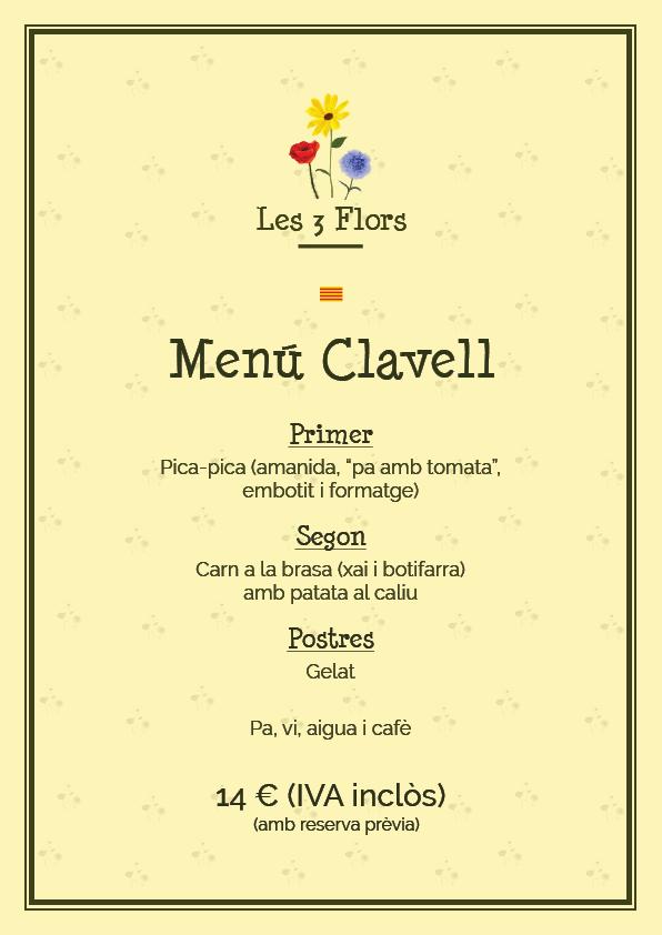 menu 2016 clavell cat picnic les 3 flors