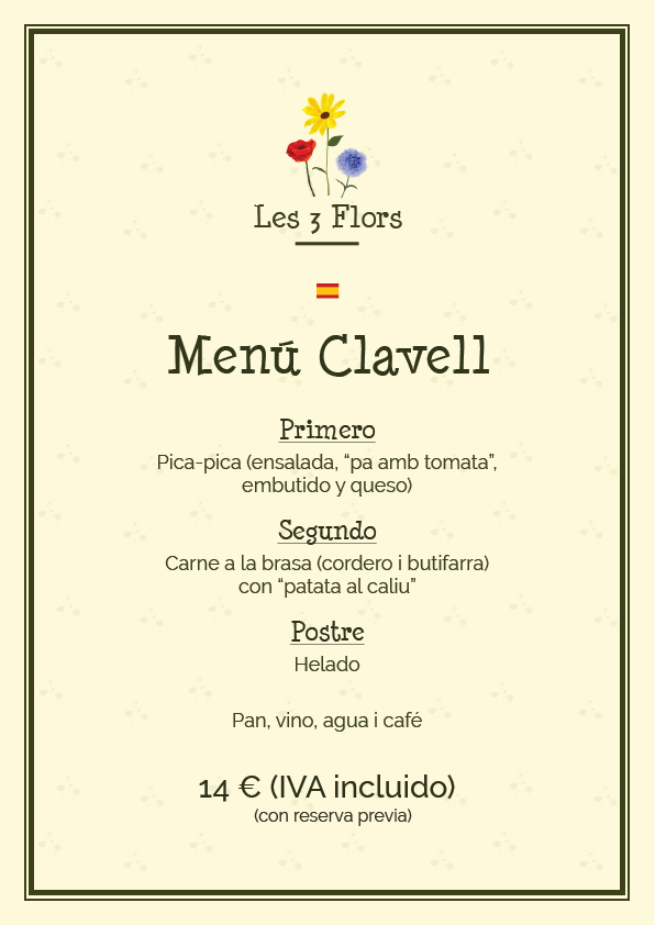 menu 2016 clavell es picnic les 3 flors