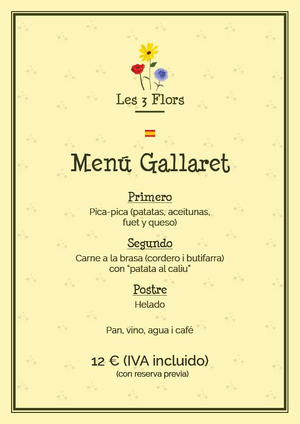 menu 2016 gallaret es picnic les 3 flors