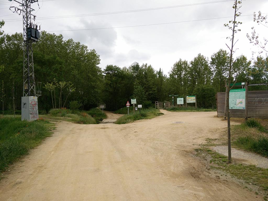 9. inici ruta estanys de sils i pont de fusta