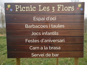 cartell informatiu picnic les 3 flors