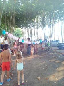festa aniversari nens globus aigua picnic les 3 flors