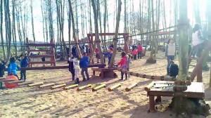 nens jugant arbres picnic les 3 flors