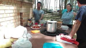 olla al foc per una bona paella picnic les 3 flors