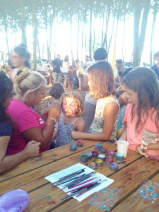 pintar cara nens aniversari picnic les 3 flors