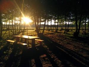 posta de sol taula picnic les 3 flors