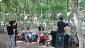 taula-decorada-aniversari-picnic-les-3-flors