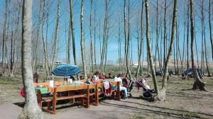 taula preparada en un molt bon dia picnic les 3 flors