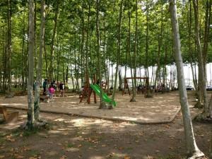 zona jocs infantils tobogan trepa nens picnic les 3 flors